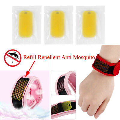 5Pcs Outdoor Anti Mosquito Wrist Band Refill Mosquito Repellent Tablets Yellow~
