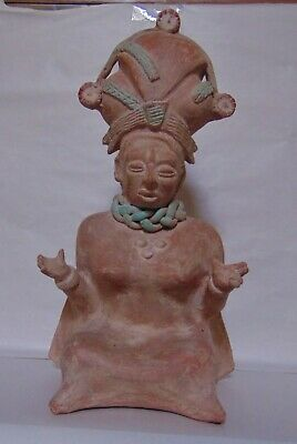 Mayan Aztec Statue - Woman - Clay Pottery
