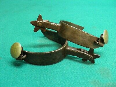 Nice Old Antique Pair Of- K & C - Kelly And Crockett Very Rare Marked Spurs