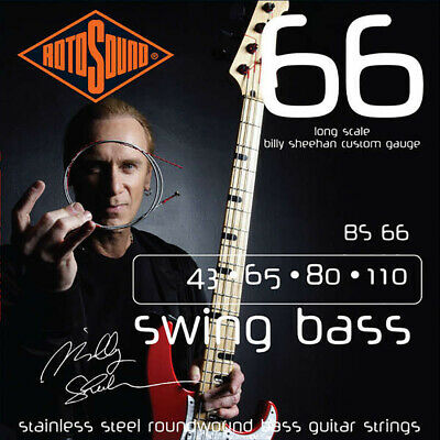 Rotosound BS66 Billy Sheehan Signature Bass Guitar Strings 43-110 + Picks
