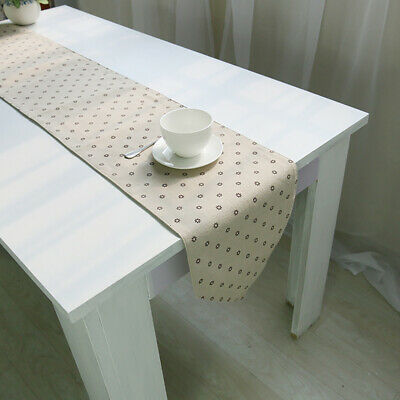 Fashion Small Floral Cotton Linen Table Runner For Table Decor TV Cabinet Mat