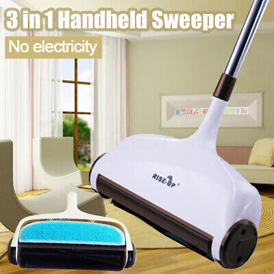 AU 3in1 Hand Push Sweeper Broom Household Floor Cleaning Mop Without Electricity