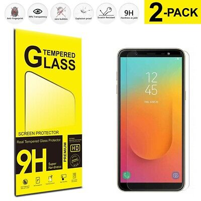 For Samsung Galaxy J8 Tempered Glass Screen Protector Film 2-Pack Cover