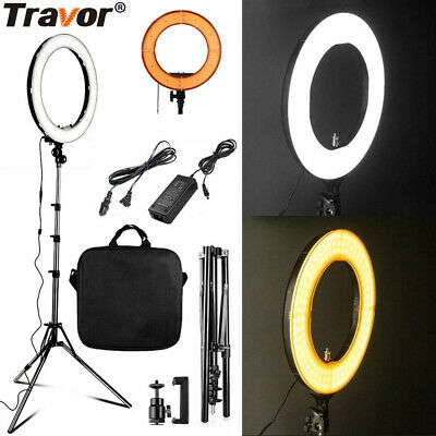 "18"" Dimmable LED Ring Light Video Photo Studio Camera Selfie Light + Light Stand"