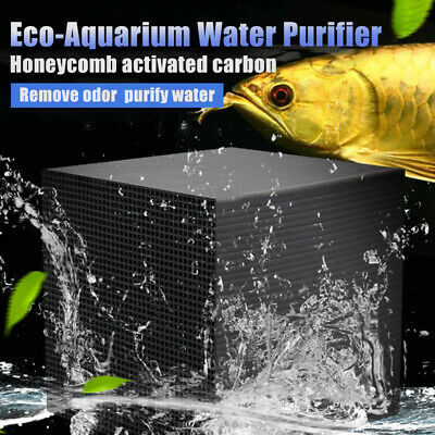 Eco-Aquarium Water Purifier Cubes Fish Tank Activated Carbon Water Cleaner Set