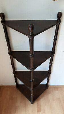 Regal Etagere Eckregal Display Konsole Antik Dunkel um 1910-20 zerlegbar orig.