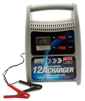 Battery Charger 12amp 6v/12v 74112 Maypole Genuine Top Quality Product New