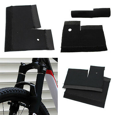 1Pair Cycling Bike Bicycle Front Fork Protector Pad Wrap Cover Set Bl~GN