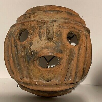 Authentic Pre-Columbian Funerary mask, in Terracotta from Costa Rica