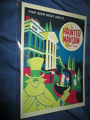 HAUNTED MANSION Postcard ~Disney Exclusive DOOM BUGGY AWAITS by Dave Perillo