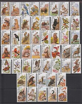 Us,2286-2335,North America Wildlife,Complete Set,1980'S Collection,Mint Nh Vf