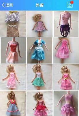 ON SALE GIRL GIFT-Popular Barbie Doll sized Cloth/Acessory@3 pc Casual Dresses@@