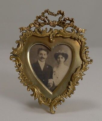 Quality Small Antique Heart Shaped Photograph Frame c.1880