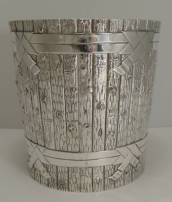 Outstanding Victorian Novelty Wine Cooler in Silver Plate by Elkington - 1879
