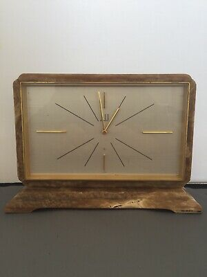 Absolutely stunning Art Deco Marble Mantle Clock By Dunhill