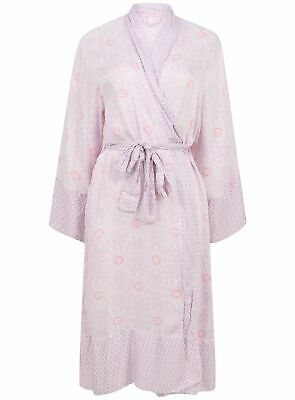 Ex Marks And Spencer Pink Thin Lightweight Tie Belt Dressing Gown Size 8-22