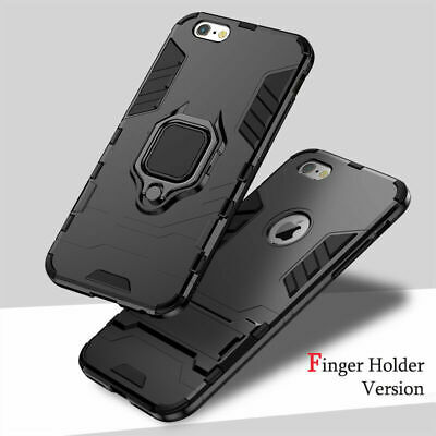 For iPhone X 8 7 6 Plus Armor Shockproof Heavy Duty Hybrid Stand Hard Case Cover