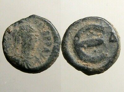 JUSTINIAN I BRONZE PENTANUMMIUM____Byzantine Empire___LARGE E___Brilliant Period