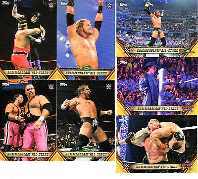 2019 Topps WWE SummerSlam Inserts Pick Cards from list