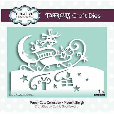 Paper Cuts Collection Moonlit Sleigh Dies