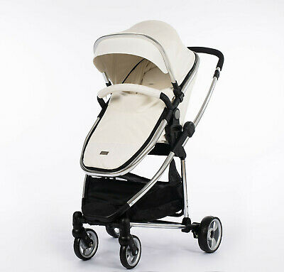 Leatherette Travel System 3 in1 Pram Buggy CarSeat  Changing Bag Footmuff-