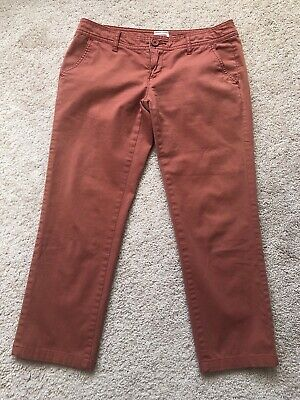 Mossimo Women's  Cropped Capri Pants Size 1 Fit 6 Stretch Color Rustic