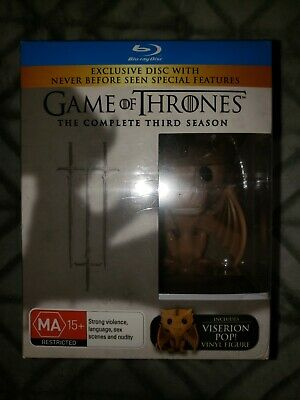 Funko Pop Game Of Thrones Viserion rare with Blu-ray sealed