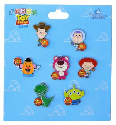 Toy Story Characters Themed 7 Disney Park Trading Pins Starter Set - Brand NEW