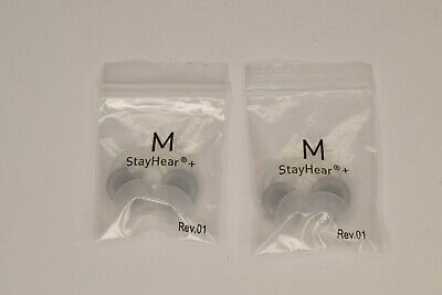 2x Pairs Genuine Bose StayHear + Plus Earbud Headphone Tips Medium QuietComfort