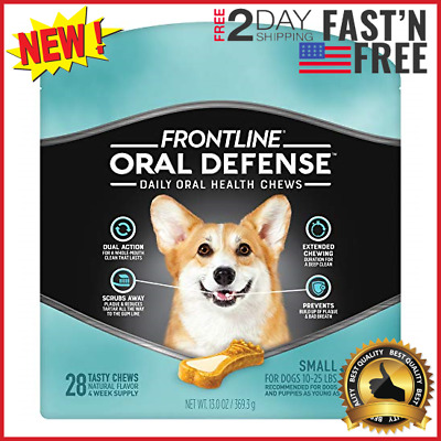 Frontline Oral Defense Daily Oral Health Chews For Small Dogs (10-25 pounds) 28-