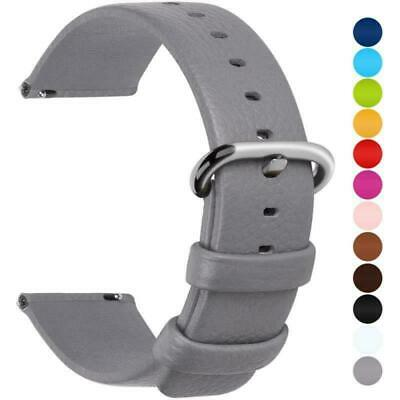 Fullmosa 12 Colors for Quick Release Leather Watch Strap, Uli Genuine Band 18mm,