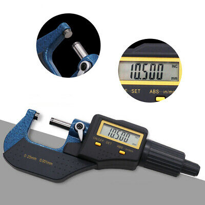 """Electronic Digital Electronic LCD 0.001mm 0.00005""""0-1"""" Outside Micrometer 0-25mm"""