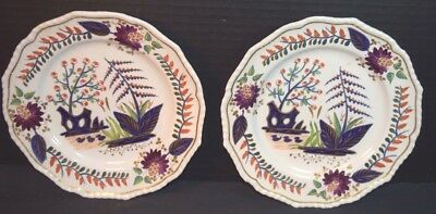 Pair of Bloor Derby Imari Pattern Porcelain Plates