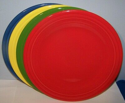 "New Set Of 4 Fiestaware Mixed Color 10.5"" Dinner Plates Fiesta Lot"