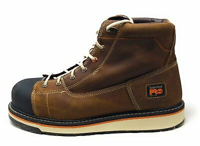 """Timberland PRO Mens Gridworks 8"""" Soft Toe Work Boot Brown Size 13 M US"""