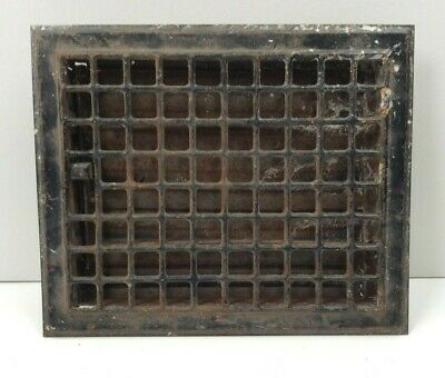 "Rusty Vintage Metal Floor Vent Register 12"" x 10"""