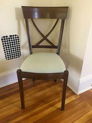 Timeless Antique Country French Upholstered Cross Back Heirloom Chair by Grange