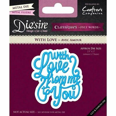 Crafter's Companion Diesire Classics Only Words - With Love Die