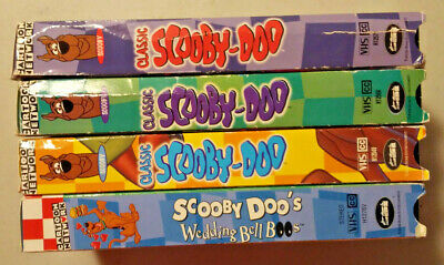 4 VHS LOT Cartoon Network Classic Scooby Doo Which Witch Mummy Too Gaggle  Ghosts