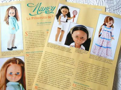 5p History Article & Pics    Vintage 1968 Famosa Nancy Dolls from Spain