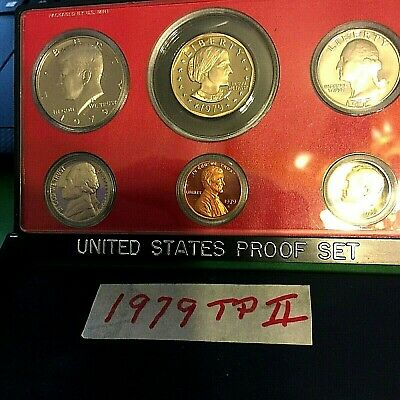 Rare Type Ii 1979-S Proof Set In Original Case (6) Coins
