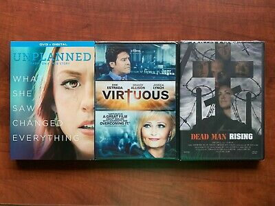 Unplanned with slip cover Free Ship Faith 3 DVD lot Virtuous Dead Man Rising New