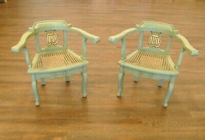 Lyre Back Chairs (2) Child Size - Antique