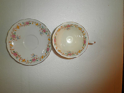 Grosvenor China Cup & Saucer, Made In England, Signed, #8170