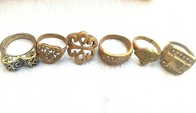 Lot of Rare Ancient Solid Ring Roman REAL Bronze Stunning Artifact Rare