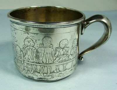 Antique Fun, Unique Sterling Silver Figural Baby Cup 1916 Smith Patterson Co.