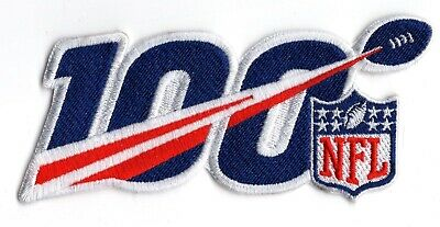 """🏈5"""" 2019 NFL National Football League 100th Anniversary Iron-on Jersey PATCH!"""