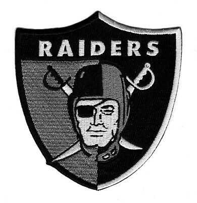 "🔥4"" OAKLAND RAIDERS 'Then and Now' Raider Nation Football Iron-on Jersey PATCH!"