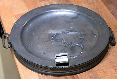 Antique English Pewter Hot Water Plate, c. 1800