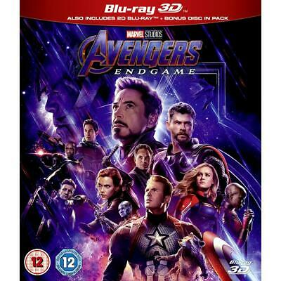 Avengers Endgame 3D + 2d + Includes bonus disc 3D + 2D Region B Blu-ray NEW
